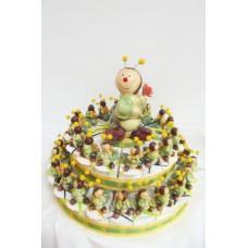 Caterpillar Favour Cake