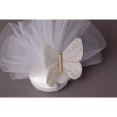 Ivory Glitter Butterflies