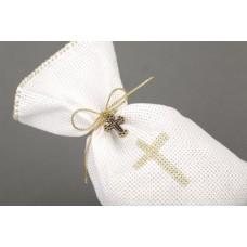 Linen sweet Bag Confirmation favor