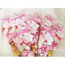 Pink First Communion Sweet Cones