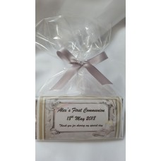Gold Frame Communion Personalised chocolate bar