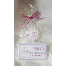 Lollypop and Personalised bar Communion set
