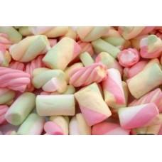 stripey marshmallows