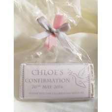 Confirmation White Dove Personalized Chocolate Bar