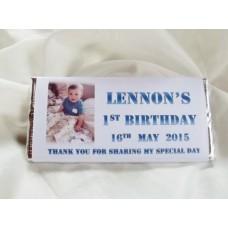 Birthday personalized chocolate bar with photo