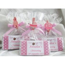 Christening girl personalised chocolate bar