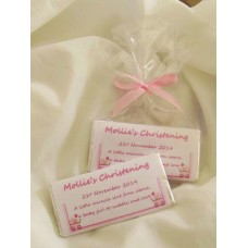 NEW Christening Girl Personalized Chocolate Bar