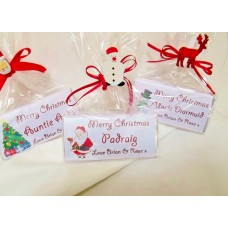 Personalised Christmas chocolate bar (Family names)