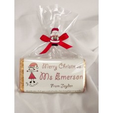 Teacher personalized Christmas chocolate bars