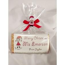 Teacher personalized Christmas chocolate bars