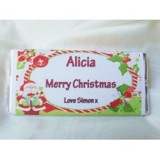 Christmas Personalized Chocolate Bar (Oval Frame)