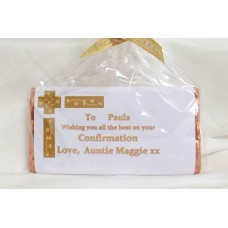 Confirmation personalised chocolate bar & money wallet