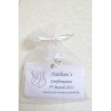 Personalised Confirmation children bar with satin bag