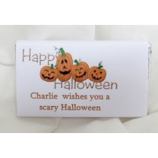 Personalised Halloween chocolates