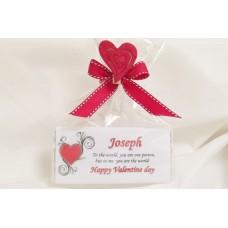 Valentine Day personalised chocolate bar