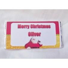 Christmas Personalized Chocolate Bar Santa Image