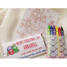 Colour My Choc Christmas Personalized Chocolate Bar