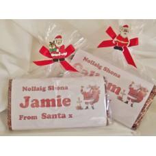 Santa Personalized Chocolate Bar