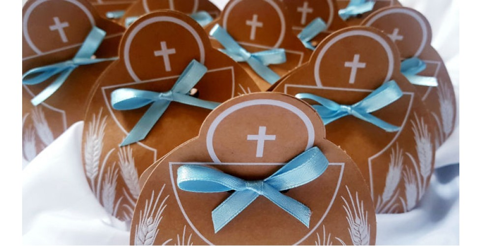 Brown Box Communion Favour