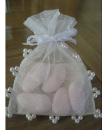 Pearl satin Communion bags