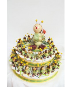 Caterpillar Favour Cake