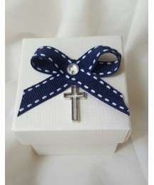 Crucifix Charm Communion Favour Box