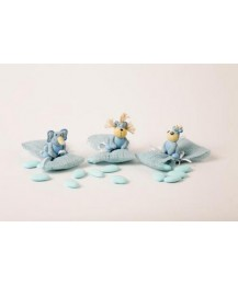 Flying Hippo Christening Favour/Blue