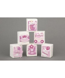 Pink & White Favour Box