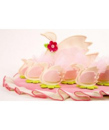 Pink Swan Christening Favours