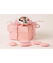 Pink & Silver Cow Party Favour
