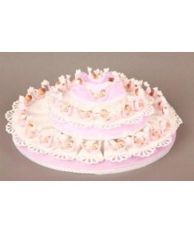 Pink Dove Favour Cake