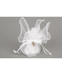 Crucifix Tulle Communion Favor