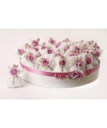 Pink Rose Wedding Favour