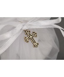 Crucifix Tulle Confirmation Favour