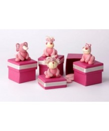 Pink Hippo Birthday Favour