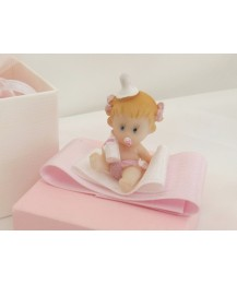 Baby girl with soother Christening favours