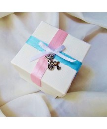 Baby shower two tone pink favor boxes