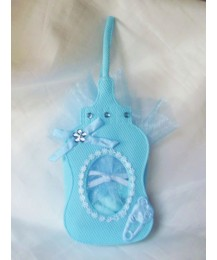 Blue Baby Bottle Favour Bag