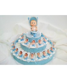 Blue Pram Christening favour cake