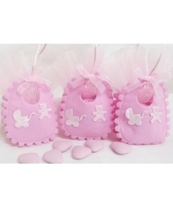 Pink Bib Favour Bag
