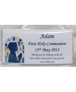 Praying boy Communion chocolate bar