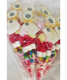 Party Invitation (chocolate bar) and Party Bags combo (Girls)