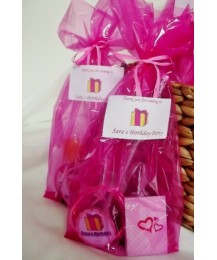 Pink girl partybags