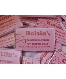 Confirmation Pink Personalized Chocolate Bar
