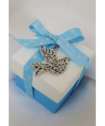 Dove charm Confirmation favour box (blue)