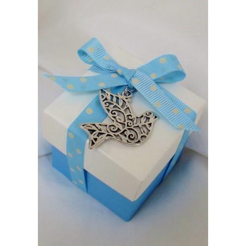 Dove Charm Confirmation Favour Box Blue Bbbonbon Online
