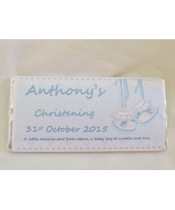 Baby Bootie Personalized Chocolate Bar