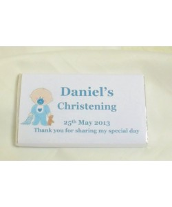 Baby boy personalised chocolate bar
