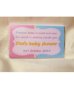Baby Shower Personalized Chocolate bar