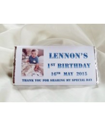 Birthday personalized chocolate bar with photo
